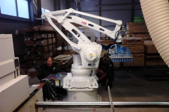 ABB robot installation (Tiksoja Puidugrupp AS)